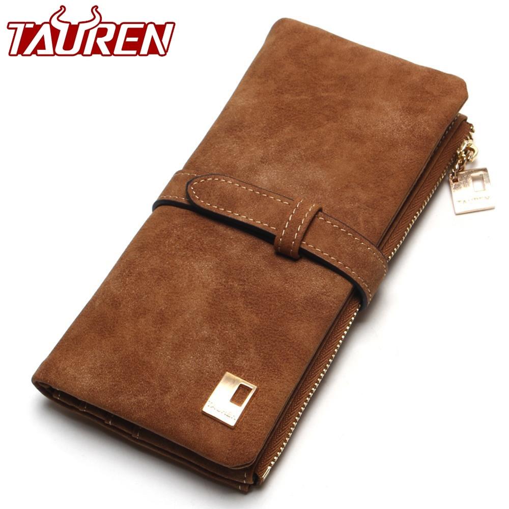 27f707e3afd6 Genuine Leather Latest Fashion Bi-Fold Women's Long Wallet