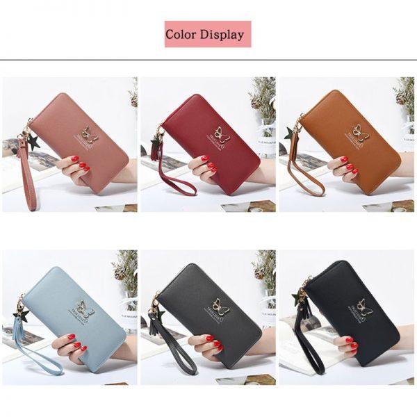 New Long Women Wallet Butterfly Hollowed Best Wallet Female Case Phone Pocket Pouch Handbag Women