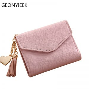 cd69fdb3e86d High Quality Luxury Leather Tassel Women's Credit Card Holder Wallet with  Zipper and Hasp