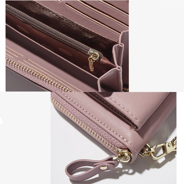 Anreisha Fashion Long Woman Purse New Designer Female Wallet Clutch PU Leather Ladies Purses Card Holder
