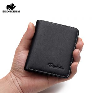 BISON DENIM genuine leather wallet