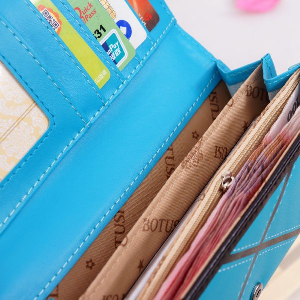 BOTUSI  PU Leather Women hasp Long Wallet Ladies Purse Female Wallets Purse Card Holder coin