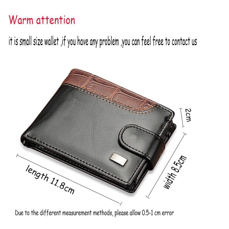 cfedb0811af3 Baellerry Vintage Leather Hasp Men's Small Wallet and Coin Purse