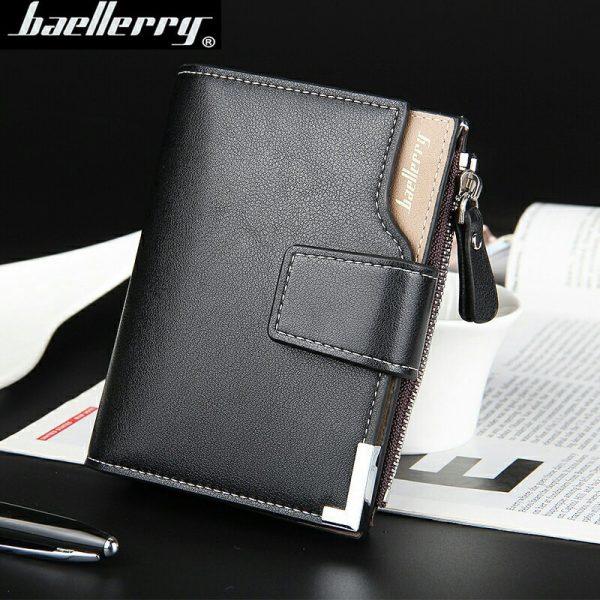 Baellerry brand Wallet men leather men wallets purse short male clutch leather wallet mens money bag