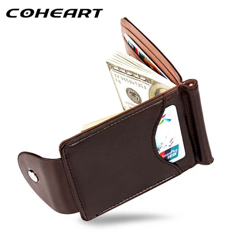 c594ea998088d COHEART Top Quality Vintage Men's Leather Wallet and Card Holder