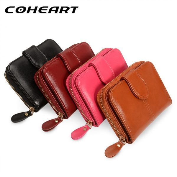 COHEART Wallet Women Fashion Purse Female Wallet leather pu multifunction purse small money bag coin pocket