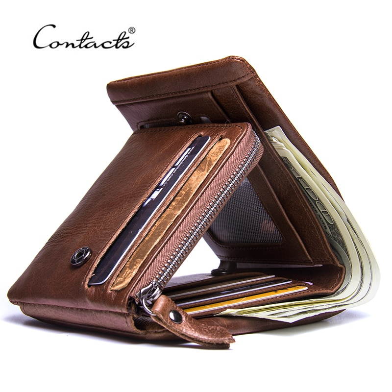 Genuine  Vintage Design Purse Men Card holder Mens Wallet Leather cart