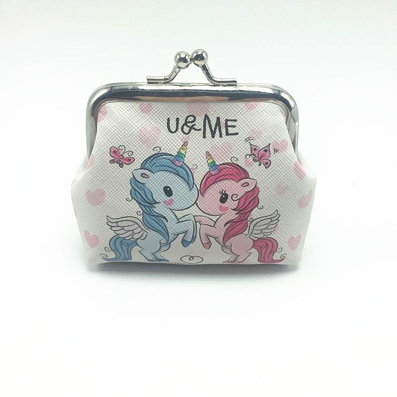 54ba0bbd26267 Cute Unicorn / Elephant Printed Hasp Mini Wallets for Girls and Women