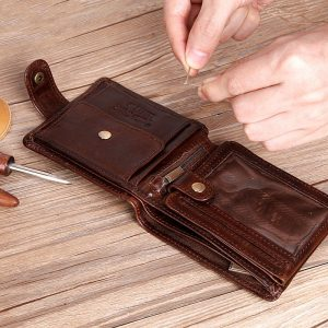Men's Short Leather Wallet