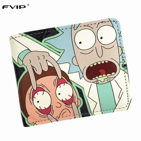 Rick and Morty Wallet with Coin Holder and Card Holder