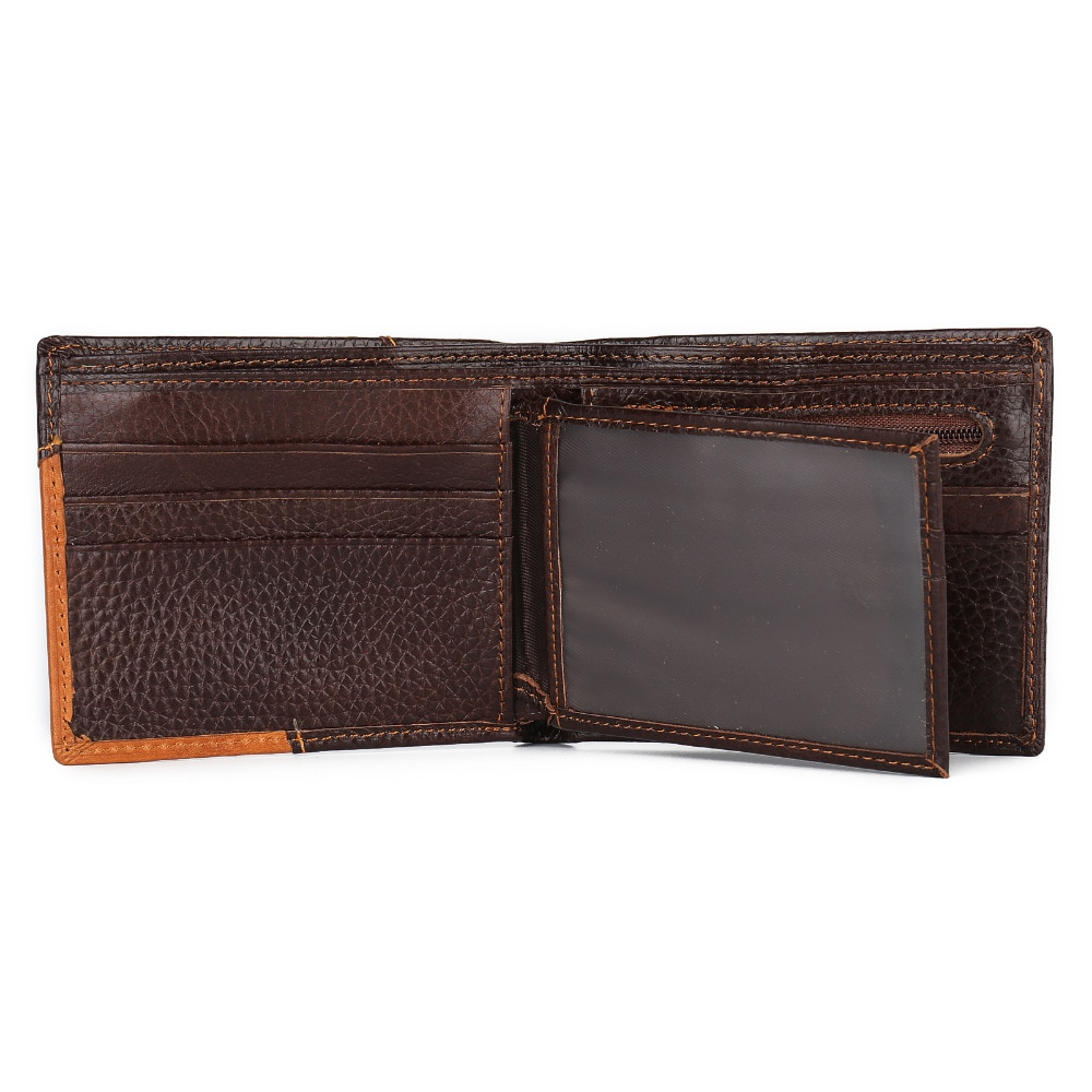 f9c1af0d69b1 Starhide RFID Blocking Zip Coin Pocket Leather Wallet Brown. Hover to zoom. StarHide  RFID Wallet photo. leather men's wallet