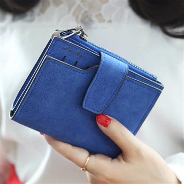 Fashion Small Female Purse short purse Lady Letter Snap Fastener Zipper Short Clutch Wallet Solid Vintage
