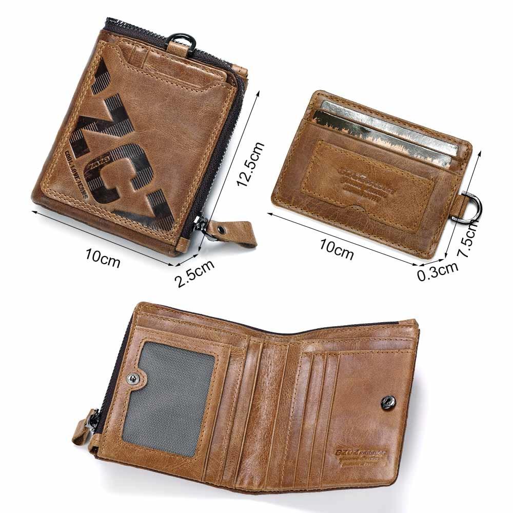 ea06279a7e8 GZCZ Genuine Leather Men's Fashion Wallet & Card Holder