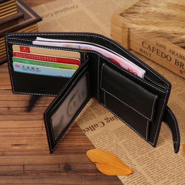 JINBAOLAI Leather Men Wallets Solid Sample Style Zipper Purse Man Card Horder Leather Famous Brand High