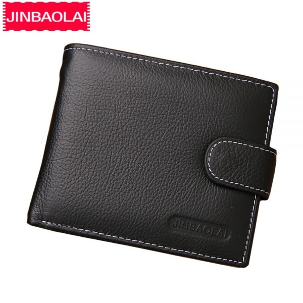 high quality genuine men's zipper wallet