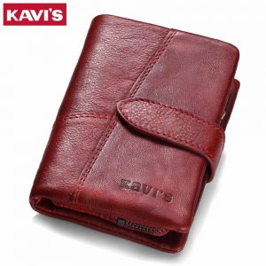 Genuine Leather Women's Wallet and Coin Purse with RFID Protector