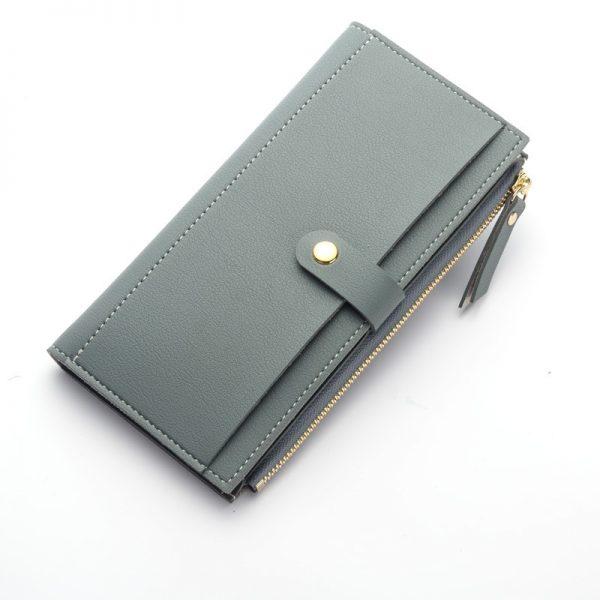Long Solid Luxury Brand Women Wallets Fashion Hasp Leather Wallet Female Purse Clutch Money Women Wallet