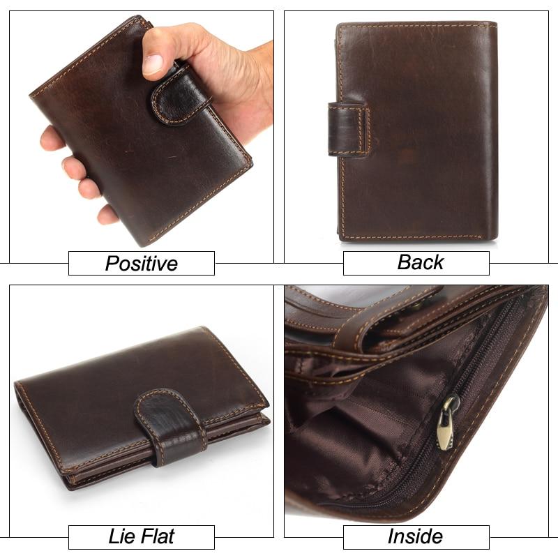 c62ec76a1a5a MISFITS Vintage Genuine Leather Men's Multifunctional Cowhide Wallet
