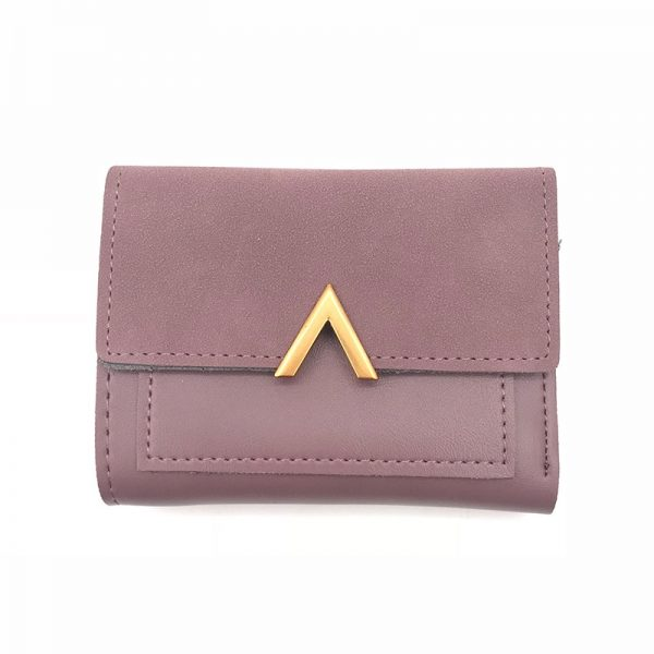 Matte Leather Small Women Wallet Luxury Brand Famous Mini Womens Wallets And Purses Short Female Coin
