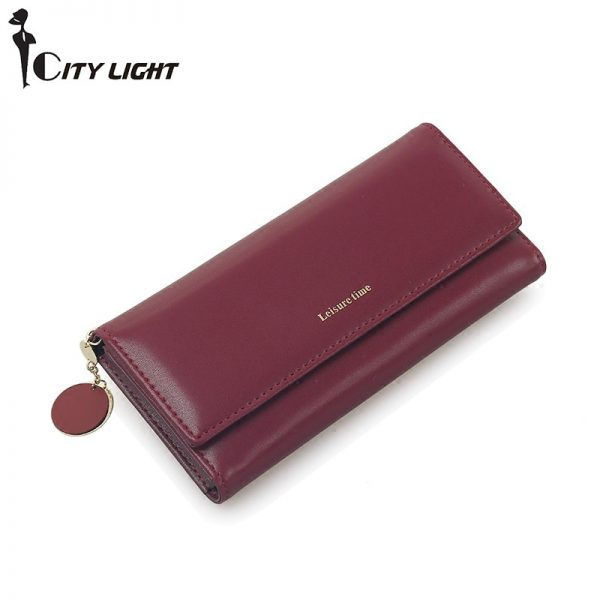 New Fashion Women Wallets Long Style Multi functional wallet Purse Fresh PU leather Female Clutch Card