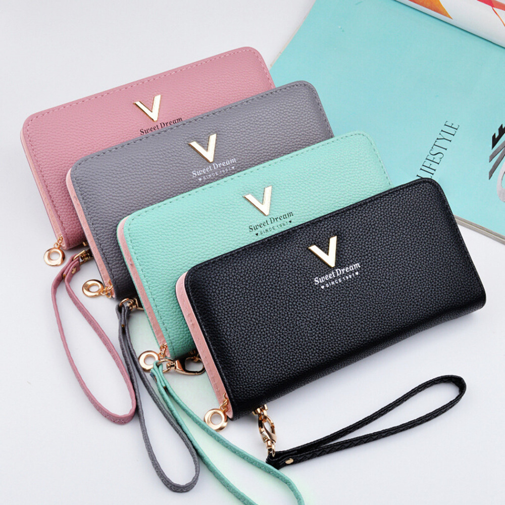 bf9be5e19d227 High Quality Women s Leather Long Wallet and Card Holder with Zipper