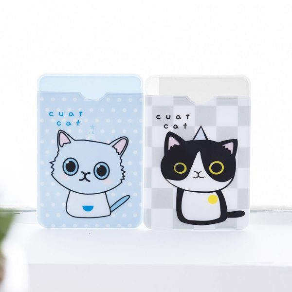 Small Fresh Cute ID Card Holder Case Cartoon Business Bus Bank Credit Card Cover Transparent PVC