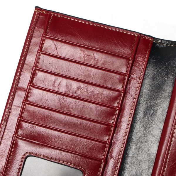 Tauren  New Women Wallets Genuine Leather High Quality Long Design Clutch Cowhide Wallet High Quality