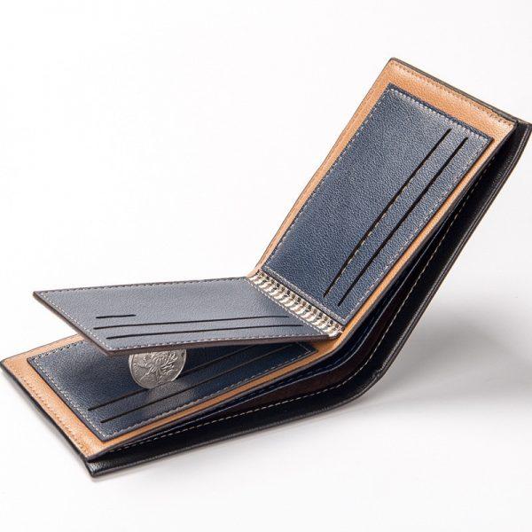 Top  Vintage Men Leather Brand Luxury Wallet Short Slim Male Purses Money Clip Credit Card