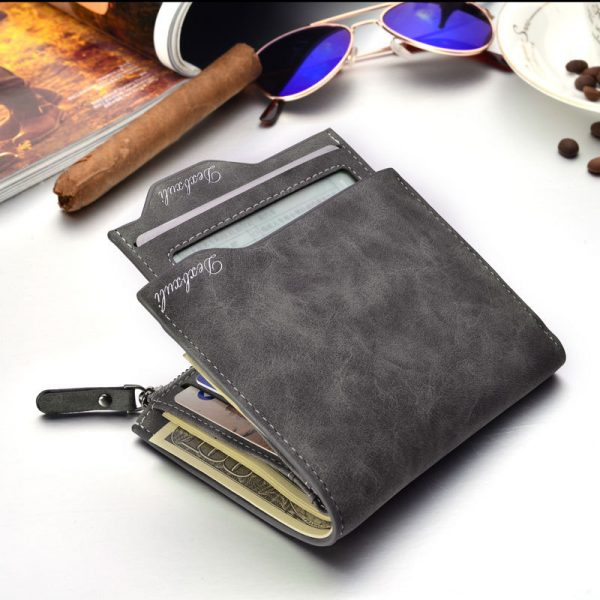 Wallet Men Soft Leather wallet with removable card slots multifunction men wallet purse male clutch top