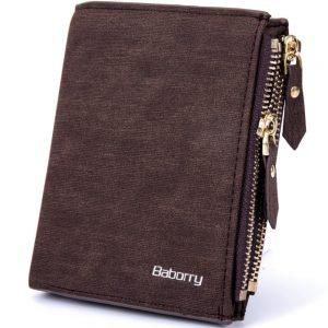 Rfid theft protect luxury men's wallet