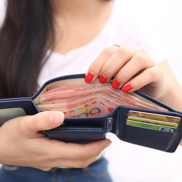 Wallet Women  Lady Short Women Wallets Crown Decorated Mini Money Purses Small Fold PU Leather