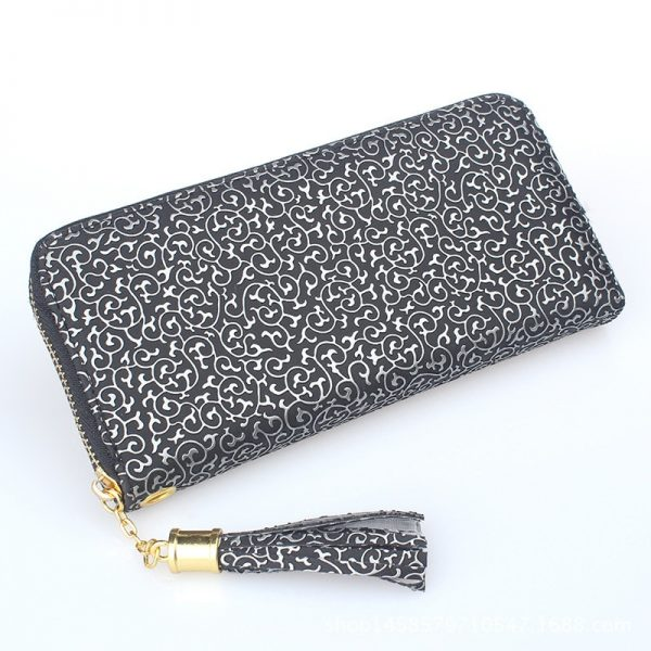 Wallets  New Totems Print Tassel Card Holders Cellphone Pocket Clasp Purse Lady Money Pouch Handbag