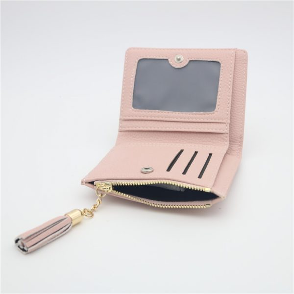 Women Wallet Embroidery Slim Mini Wallet Hasp Zipper Women Small Clutch Female Purse Coin Card Holder