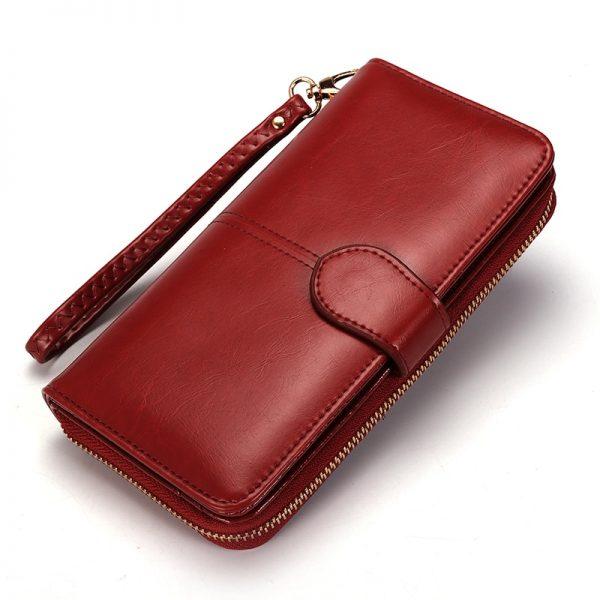Trifold Women's Zipper Wallet