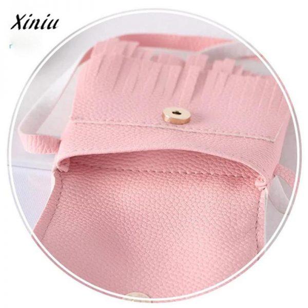 xiniu Kids cat purse wallets for children Cute pattern tassel Bags Shoulder Bag Cute monederos para