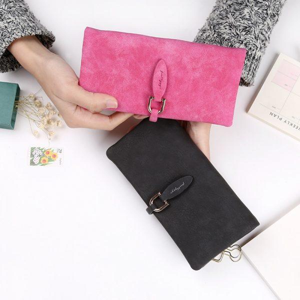 Latest Women leather Leaf Long Wallet Female Coin Purse Change Clasp Purse Money Bag Card