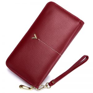 Luxury Brand Long Women Wallet with Interior Moblie Female Large Purse Woman Genuine Leather Card