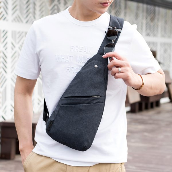 New Anti Theft Men s Messenger Bags Multi pocket Sling Shoulder Bags Casual Chest Pack