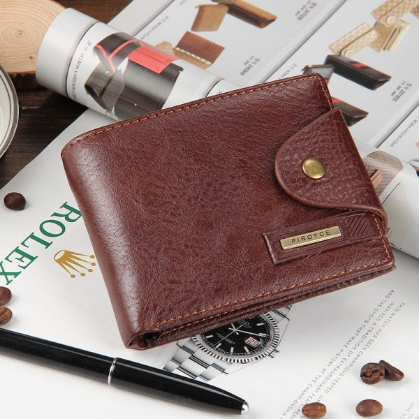 New brand high quality short men s wallet Genuine leather qualitty guarantee purse for male