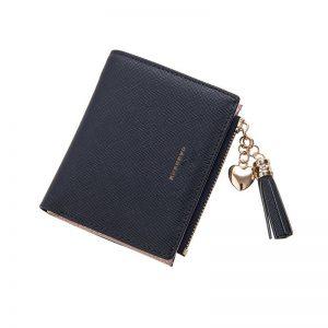 Tassel Women Wallet Small Cute Wallet Women Short Leather Women Wallets Zipper Purses Portefeuille Female