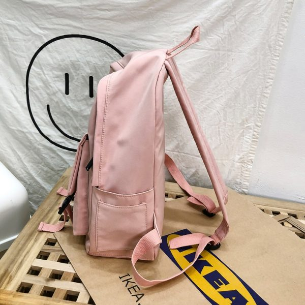 Backpack Women Backpack Fashion Women Shoulder Bag solid color School Bag For Teenage Girl Children