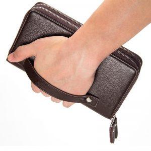 Baellerry Men Clutch Wallets PU Leather Large Capacity Zipper Hand Strap Men Wallet Luxurious Business