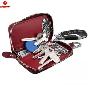 Car Key Case Keys Pouch Genuine Leather KeyChain Unisex Key Bag Multifunction Organizer Wallet Holder