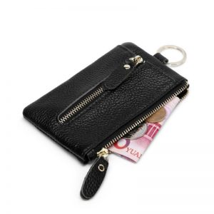 Housekeeper Keys Holder Car Key Wallet Top Layer Real Nature Cow Leather Keychain Pouch Phone