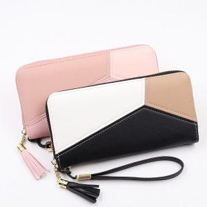Leather Women Wallet Tassel Long Wallets Fashion Wallet Female Girls Phone Pocket Purse Card Holder