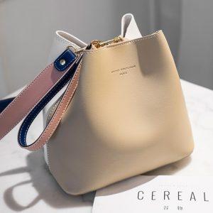 New Designer Women Handbags PU Leather Bucket Shoulder Bags Female Fashion Larger Capacity Crossbody Messenger