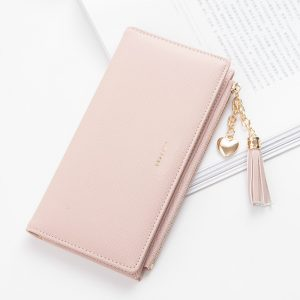 Tassel Wallet Women Long Cute Wallet Leather Tassel Women Wallets Zipper Portefeuille Female Purse Clutch