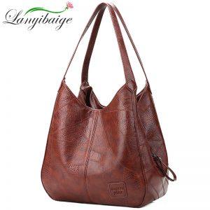 Vintage Women Shoulder Bag Female Causal Totes Bags Large Capacity Luxury Designer High Quality Ladies