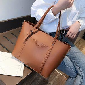 big Women Handbag Leather Women Shoulder Bags Designer Women Messenger Bags Ladies Casual Tote Bags