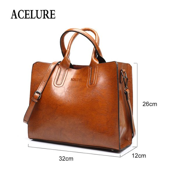ACELURE Leather Handbags Big Women Bag High Quality Casual Female Bags Trunk Tote Spanish Brand Shoulder